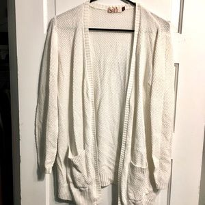 SO white knit cardigan